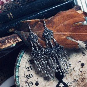 Handmade Gypsy Tiered Sterling Silver Earrings